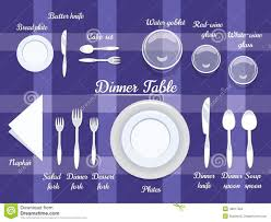Download Cutlery On Dining Table Stock Vector Illustration Of Knife