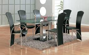 Modern Glass Dining Room Sets Set