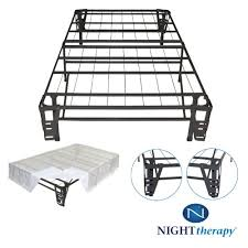 Bed Frame With Headboard And Footboard Brackets by Night Therapy Platform Metal Bed Frame Foundation Set Smartbase