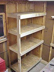 create your own garden shed corner shelves wikihow diy