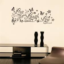 decorative words for walls diy live laugh quotes words wall sticker living room