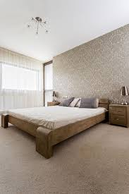 A Large Looking Bed With Very Simple Frame This Dark Wood Style Is Smart While Staying In Keeping Fairly Minimal Wooden Decor