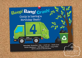 Garbage/Recycle Truck Birthday Party Personalized Printable Invitation Dump Trucks For Sale In Des Moines Iowa Together With Truck Party Garbage Truck Made Out Of Cboard At My Sons Picture Perfect Co The Great Garbage Cake Pan Cstruction Theme Birthday Ideas We Trash Crazy Wonderful Love Lovers Evywhere Favor A Made With Recycled Invitations Mold Invitation Card And Street Sweepers Trash Birthday Party Supplies Other Decorations Included Juneberry Lane Bash Partygross