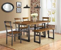 Formal Dining Room Sets Walmart by Better Homes And Gardens Mercer 7 Piece Dining Set Walmart Com