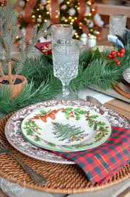 Spode Christmas Tree Platter by Farmhouse Christmas Tablescape A Mrs Among Magnolias