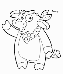 Benny Dora Coloring Pages