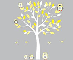 Owl Bedroom Wall Stickers by Amazon Com Yellow Owl Wall Decal Gender Neutral Baby Nursery Or
