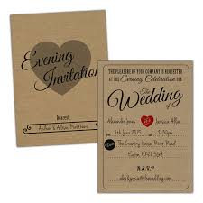 VINTAGE RUSTIC Wedding Evening Invitations