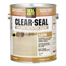 seal krete 1 gal satin clear seal concrete protective sealer
