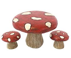 Fairy Garden Fairy Picnic Set Table And Chairs (Toadstool Picnic Set) Red Toadstool Table Masquespacio Designs Adstoolshaped Fniture For Missana Mushroom Kids Stool Uncategorized Chez Moi By Haute Living Propbox Event Props Fniture Hire Dublin How To Make A Bistro Set Garden In Peterborough Swedish Woodland Robins Floral Side Magentarose Toadstools Fairy Garden