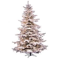 12 Flocked Sierra Fir Tree Dura Lit