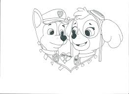 Skye Paw Patrol Coloring Pages Chase Cartoons And Everest