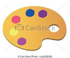 Art Palette Stock Illustration