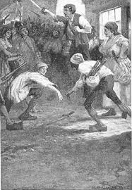Household Edition Illustration Depicting The Frenzied Mob Outside Paris Branch Of Tellsons In Book Three Chapter Two Grindstone 1874