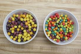 Naturally Colored And Flavored Trix On The Left Compared With Artificial Version