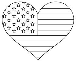 Patriotic American Flag Coloring Page