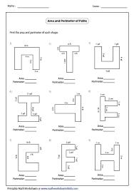 Algebra Tiles Worksheet 6th Grade by Perimeter Of Irregular Shapes Worksheet Free Worksheets Library