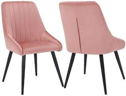 Dining Chairs Set Of 2, Upholstered Accent Chair Tufted Armless Chair Mid  Century High Back Chairs Velvet Pink