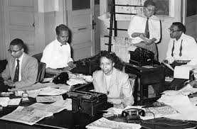 The Defender Newsroom On Chicagos South Side In Late 1940s With Audrey Weaver