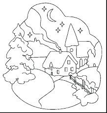 Winter Scenes Coloring Pages Printable Kindergarten Lorax Trees Pdf The Book Full Size