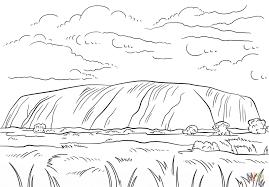 Uluru Ayers Rock Coloring Page Free Printable Pages