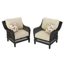Hampton Bay Woodbury Wicker Outdoor Patio Lounge Chair with