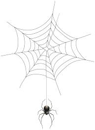 Spider and Web Transparent Clip Art Image