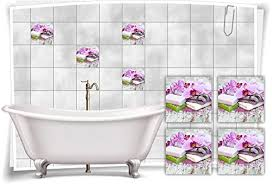 15x20cm medianlux fliesen aufkleber spa wellness orchidee