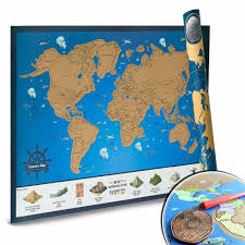 100 All State Trucking Scratch Off World Map With Us S Tracking Poster For Travelers