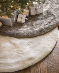72 Inch Gold Christmas Tree Skirt by Lodge Faux Fur Tree Skirt Balsam Hill