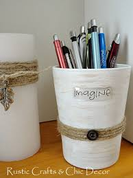 Creative Office Accessories In A Shabby Chic Style Rustic Crafts Photo Details