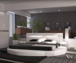 polsterbett arrondi weiss 180x200 bett rund mit 2 nachtkonsolen und led moderne einrichtungsideen günstig bei möbel modern