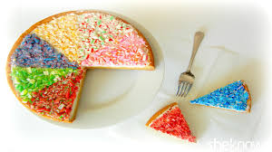 Rainbow candy cane topped sugar cookie cake will delight your family