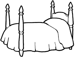 Bed Coloring Pages 4 For A Girl Page