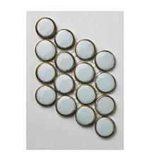 Home Depot Merola Penny Tile by Merola Tile Hudson Penny Round Silk White Porcelain Mosaic Tile