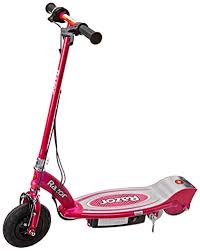 Designed For Riders Ages 8 And Up The Bright Pink Razor E100 Electric Scooter Is Perfect Young Ladies Who Have A Need Speed Want To Show Off