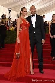Evening Dresses Red Carpet by Hannah Davis Met Gala Ball Celebrity Dresses Red Carpet One