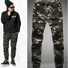 men cotton skinny joggers camo pants camouflage 1 lazada malaysia