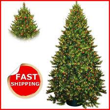 Pre Lit Multicolor Christmas Tree Sale by Artificial Christmas Tree 9 Ft Fir Pre Lit Led Lights Multicolor