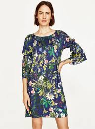 women u0027s casual floral printed flare sleeve pullover dress
