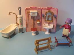 playmobil nostalgie rosa puppenhaus 1900 5324 bad puppenhaus
