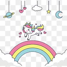 Happy To Run The Unicorn Vector Png Rainbow Bridge PNG And