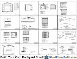 12x12 Shed Plans Pdf by 12x12 Garage Door Storage Shed Plans