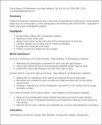 Photography Assistant Resumes Freelance Photographer Resume Example