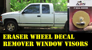 1995 Chevy Truck Remove Adhesive Eraser Wheel Install Window Visors ... Endearing Window Vent Visors Trucks For Modern Putco Element Chrome Sharptruckcom Egr Smline Inchannel Fast Shipping Firstgen Tacoma World How To Install Avs On A Gmc Sierra Youtube Tinted Chevy Colorado Canyon In Ikonmotsports 0608 3series E90 Pp Front Splitter Oe Painted Channel Page 2 Tapeon Mack Visor Rear Door Trims Exterior