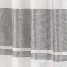 White And Gray Striped Curtains by Eyelet Voile Curtain Panel Metallic Stripe Green Silver Plum Brown