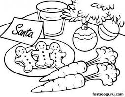 Christmas Gingerbread Coloring Pages 07