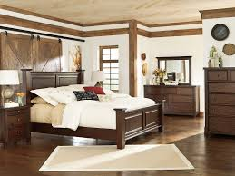 Fantastic Rustic Bedroom Ideas With Brown Wooden Bed Added Wardrobe And Floor