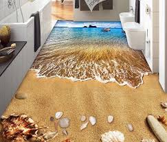 Custom 3d Flooring Bedroom Surf Beach Shells Mural Wallpaper Pvc Waterproof Living Room In Wallpapers From Home Improvement On