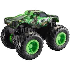 100 Monster Trucks Crashing Hot Wheels 143 Scale Skeleton Crew Rev Tredz Toy Truck
